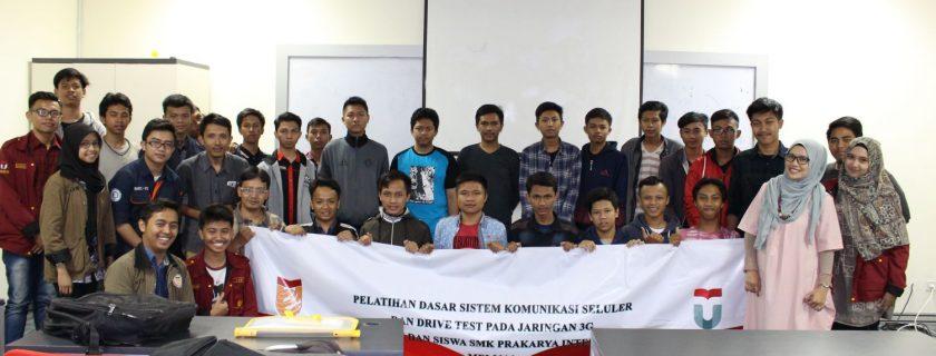 Pelatihan Dasar Sistem Komunikasi Seluler dan Drive Test Jaringan 3G untuk Siswa dan Guru SMK Prakarya Internasional